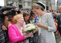 Queen Mathilde of Belgium Queen Mathilde of Belgium attends a Mass for