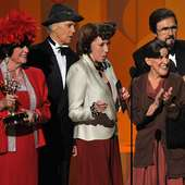Ruth Buzzi (L-R) Actors Jo Anne Worley, Alan Sues, Lily Tomlin, Ruth