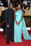 Viola Davis Actress Viola Davis (R) and husband Julius Tennon arrive