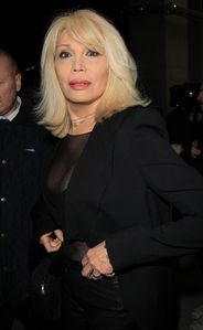 Amanda Lear Amanda Lear joins a celebrity audience at the Givenchy