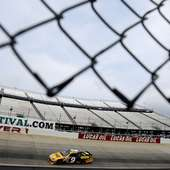 Marcos Ambrose, Driver Of The #9 Dewalt Ford, Practices For The NASCAR