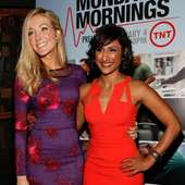 Sarayu Rao Actresses Jennifer Finnigan (L) And Sarayu Rao Attend The