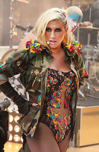Kesha Blonde singer Kesha performs on 'The Today Show' in an