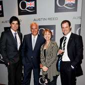 Anne Diamond (L-R) Cricket Player Alastair Cook, Austin Reed CEO Nick
