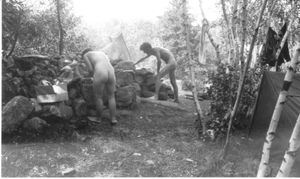 Murmurs Nudist Club was located in the woods above Colby in the 1940's