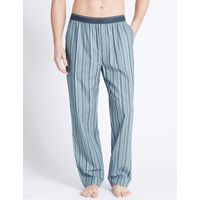 M&S Collection 2in Longer Pure Cotton Long Pyjama Bottoms