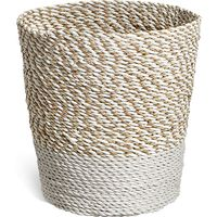 Raffia + Seagrass Waste Bin