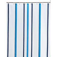 Thin Stripe Nautical Shower Curtain