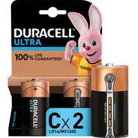DURACELL LR14/MX1400 Ultra Power C Alkaline Batteries