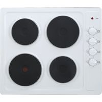 ESSENTIALS CSPHOBW15 Electric Solid Plate Hob - White, White