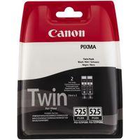 CANON PGI-525 Black Ink Cartridge - Twin Pack, Black