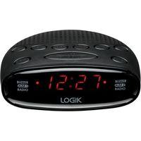 LOGIK LCRA14 Analogue Clock Radio - Black, Black
