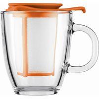 BODUM Yo Yo Mug & Tea Strainer Set - Orange, Orange