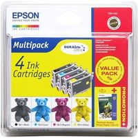 EPSON Teddybear T0615 Cyan, Magenta, Yellow & Black Ink Cartridges - Multipack, Cyan
