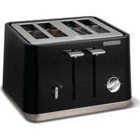 MORPHY RICHARDS Aspect 240002 4-Slice Toaster - Black, Black