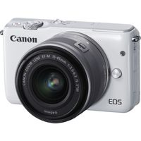 CANON EOS M10 Compact System Camera with 15-45 mm f/3.5-f/6.3 IS STM Wide-angle Zoom Lens - White, White