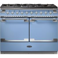 RANGEMASTER Elise SE 110 Dual Fuel Range Cooker - China Blue & Chrome, Blue