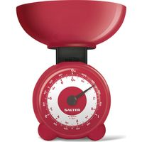 SALTER Orb Mechanical Kitchen Scales - Red, Red