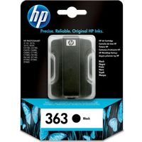 HP 363 Black Ink Cartridge, Black