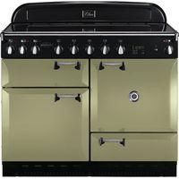 RANGEMASTER Elan 110 Induction Range Cooker - Olive Green & Chrome, Olive