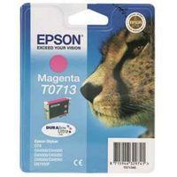 EPSON Cheetah T0713 Magenta Ink Cartridge, Magenta