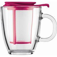BODUM Yo Yo Mug & Tea Strainer Set - Pink, Pink