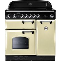 RANGEMASTER Classic 90 Electric Ceramic Range Cooker - Cream & Chrome, Cream