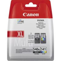 CANON PG-540 XL & CL-541 Black & Tri-colour Ink Cartridges - Twin Pack, Black