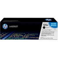 HP 125A Black Toner Cartridge, Black