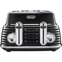 DELONGHI Scultura CTZ4003BK 4-slice Toaster - Black, Black