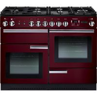 RANGEMASTER Professional 110 Gas Range Cooker - Cranberry & Chrome, Cranberry