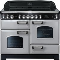 RANGEMASTER Classic Deluxe 110 Electric Ceramic Range Cooker - Royal Pearl & Chrome