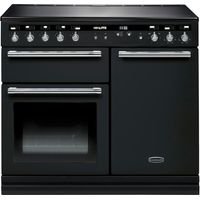 RANGEMASTER Hi-LITE 100 Electric Induction Range Cooker - Black & Chrome, Black