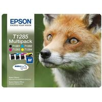 EPSON Fox T1285 Cyan, Magenta, Yellow & Black Ink Cartridges - Multipack, Cyan