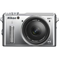 NIKON 1 AW1 Compact System Camera with 11-27.5 mm f/3.5-5.6 Zoom Lens - Silver, Silver