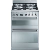 SMEG Concert 60 Dual Fuel Cooker - Stainless Steel, Stainless Steel
