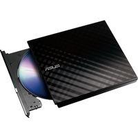 ASUS SDRW-08D2S-U LITE External Slimline SATA DVD Writer - Black, Black