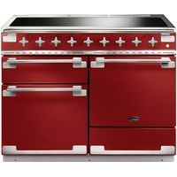 RANGEMASTER Elise 110 Electric Induction Range Cooker - Cherry Red & Chrome, Red