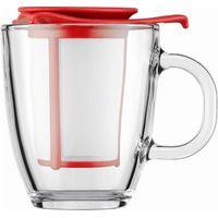 BODUM Yo Yo Mug & Tea Strainer Set - Red, Red