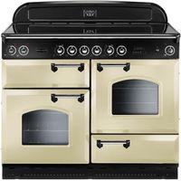 RANGEMASTER Classic 110 Electric Ceramic Range Cooker - Cream & Chrome, Cream
