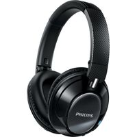 PHILIPS SHB9850NC/00 Wireless Bluetooth Noise-Cancelling Headphones - Black, Black