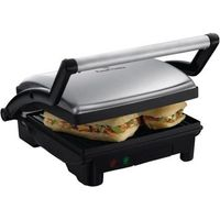 Russell Hobbs 17888 3 in 1 Panini Press  Griddle   Health Grill   Silver  Silver