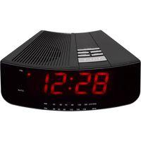LOGIK LCRAN12 Analogue Clock Radio - Black, Black