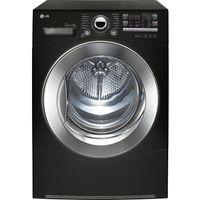 LG RC9055BP2Z Heat Pump Condenser Tumble Dryer - Black, Black