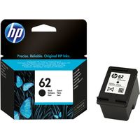HP 62 Black Ink Cartridge, Black