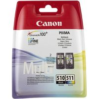 CANON PG-510/CL-511 Black & Colour Ink Cartridges - Twin Pack, Black