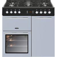 LEISURE AL90F230B Dual Fuel Range Cooker - Blue, Blue