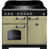 RANGEMASTER Classic Deluxe 100 Electric Induction Range Cooker - Olive Green & Chrome, Olive