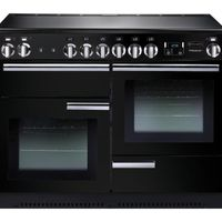 RANGEMASTER Professional 110 Electric Ceramic Range Cooker - Black & Chrome, Black