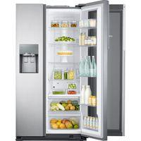 SAMSUNG Food ShowCase RH56J6917SL American-Style Fridge Freezer - Steel